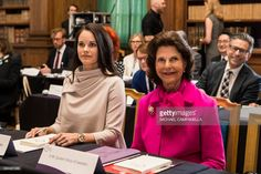 Queen Silvia and Princess Sofia of Sweden attend a Dementia Forum at the Stockholm royal palace on May 18, 2017 in Stockholm, Sweden. (Photo by MICHAEL CAMPANELLA/Getty Images)