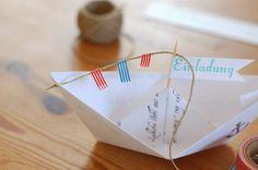 kayhuderfjaeril: Papierschiff Einladung DIY [Creadienstag]