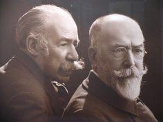 Mariano y José Benlliure Fotógrafo: F. Sanchis, ca. 1920 580 x 470 mm Archivo Casa-Museo Benlliure. Ayuntamiento de Valencia