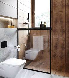 Amazing Bathroom Remodel Ideas - When it comes to bathroom design Bathroom Toilets, Wood Bathroom, Small Bathroom, Bathroom Design Luxury, Modern Bathroom Design, Bedroom Modern, Bad Inspiration, Bathroom Inspiration, Baths Interior