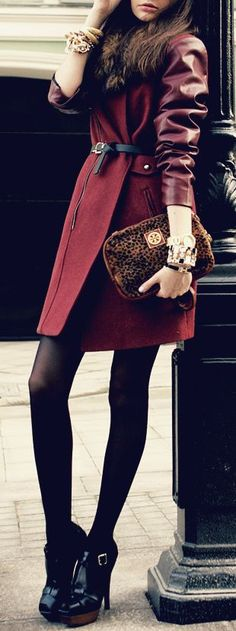 Burgundy Trench Coat ♥