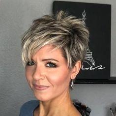 Longer Pixie Cut Styling Options hair Hair Tutorial: Styling a Longer Pixie without Spikes! Haircut Styles For Women, Short Haircut Styles, Cute Short Haircuts, Short Hairstyles For Women, Short Styles, Bob Haircuts, Bob Hairstyles, School Hairstyles, Short Choppy Haircuts