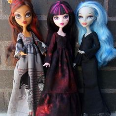 New clothes for Monster High dolls.