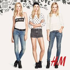 Worn summer denim, cute dots and bohemian lace - a winning match for sunny days!