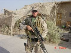 This is our Hero, GySgt Michael J Clark, USMC EOD. He was killed in Fallujah, Iraq on July 20, 2004.  -Sara