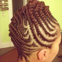 Flat twists | Black Women Natural Hairstyles