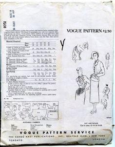 Original-Vogue-Pattern-Early-50s-by-Schiaparelli-Paris-Original-Sz-18