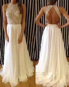 WD12 Backless Beading Charming Wedding Dresses,Long Wedding Dress Custom Made Wedding Gown,