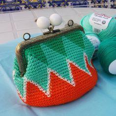 monedero jacquard ganchillo/ crochet jacquard purse