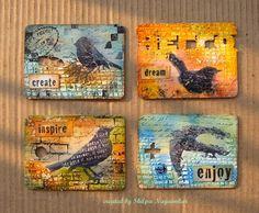 Neon Diary: Bird ATCs set