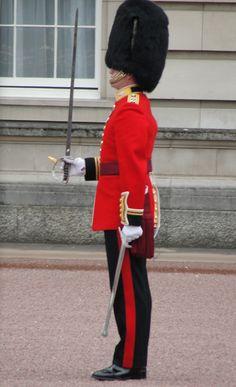 Buckingham Palace, London. On duty.