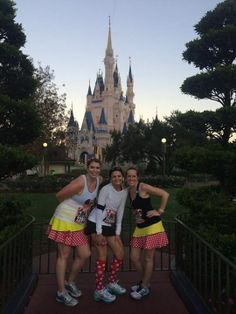 Love the mid race shots of Girlfriend in front of the castle!  The pockets on our skirts hold so much you don't need a belt! #SparkleOn