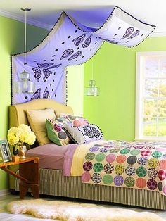 Custom Canopy; colorful bedroom / DIY & Crafts / Trendy Pics