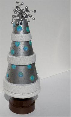 sandylandya@outlook.es  christmas craft ideas, painted clay pots