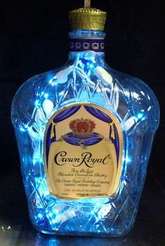 Blue Lights in Crown Bottle