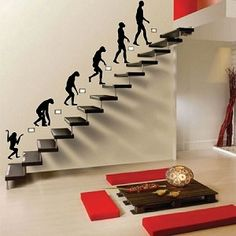 Wall decals for the stairs