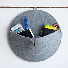 Hanging felt box felt bowl felt keys and by SimpleWorldStudio, $24.90