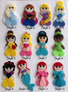 U PICK 3 Princess Inspired Felt Appliques by blessed2create