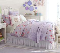 white iron bed for Sydney. Do you like iron or wood better?  Emma Bedroom Set #pbkids