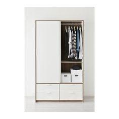 TRYSIL Garderobeskab skydedøre 4 skuf  - IKEA