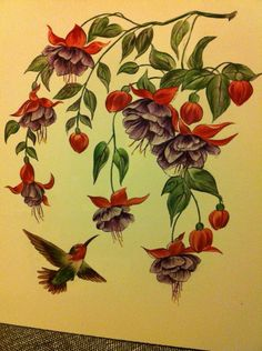 fuschia flowers by crazythewaytobe on deviantart tattoos i like pinterest. Black Bedroom Furniture Sets. Home Design Ideas
