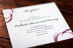 Wine Themed Wedding Invitation, No Grapes, Vines or Wine Bottles » Alex Tebow Designs