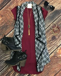 Playing in Plaid Vest: Black from privityboutique
