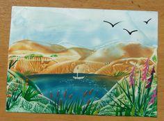 moje další krajinka - my landscape (encaustic)