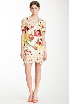 Dolce & Gabbana Floral Print & Crochet Dress by MADA on @HauteLook