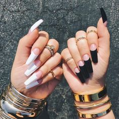 Trendy White Acrylic Nails Designs Ideas To Try Great ready to book your next manicure, because Acrylic Nails Natural, White Acrylic Nails, Best Acrylic Nails, Acrylic Nail Designs Coffin, Matte White Nails, Acrylic Nails Stiletto, Gold Nail, Manicure E Pedicure, Pedicures