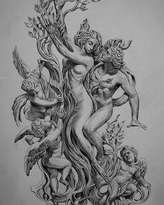 by Jun Cha #gravure #art #draw #illustration #body