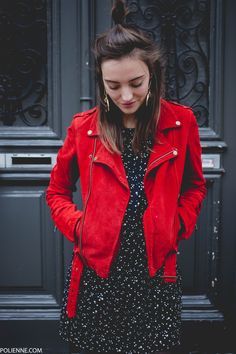 69 Ideas How To Wear Red Outfit Leather Jackets For 2019 Biker Jacket Outfit, Leather Jacket Outfits, Leather Jackets, Red Fashion, Fashion Outfits, Red Suede Jacket, Looks Style, Mode Outfits, Mantel