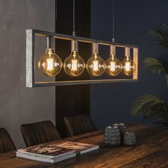 The Ceiling Light is a rectangular model with 5 light sources. It has an industrial tough vintage look, it will suit in any interior placed and brings ambiance! Furniture Design, Industrial Ceiling Lights, Light, Interior, E27 Light Bulb, Ceiling, Dining Chairs, Affordable Design, Ceiling Lights