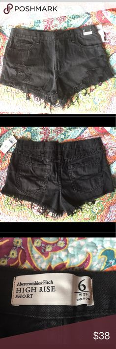 NWT! Abercrombie & Fitch size 6 women's shorts Women's size 6 W-28 high rise shorts! Never worn. New with tags! Valued at $58, only asking $38!! Abercrombie & Fitch Shorts Jean Shorts