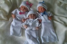 From Cheeky Chums--micro baby loss bereavement gowns and hat examples (photo made with Reborn Dolls to model size, not an actual infant) for up to 1 lb.