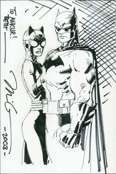 JIM LEE BATMAN AND CATWOMAN DRAWING, in www. ComicLink.com Original Art Auctions and Exchange's PRIOR AUCTION - 2012-11 - FEATURED AUCTION HIGHLIGHTS Comic Art Gallery Room - 947013