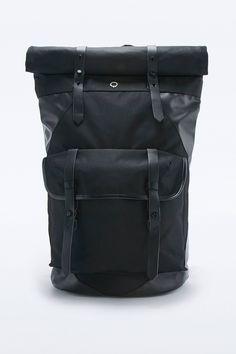 Slide View: 1: Stighlorgan Ronan Roll Top Black Backpack