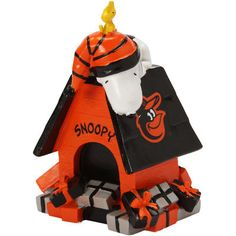 Baltimore Orioles Holiday Dog House Snoopy Figurine