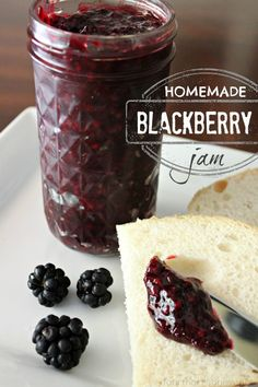 Easy Homemade Blackberry Jam...yep..just picked them today 7/17/2013...It is now 94 degrees in Illinois!  Summer!