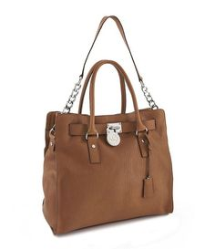 MICHAEL KORS HAMILTON LARGE NORTH SOUTH TOTE COLOR LUGGAGE $299