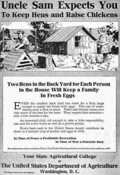 Be patriotic- two chickens in every yard
