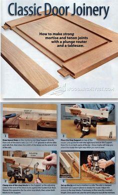 Classic Door Joinery - Cabinet Door Construction and Techniques   WoodArchivist.com