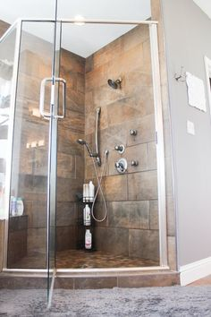 Custom Tile Shower - Master Bathroom via Houseofroseblog.com