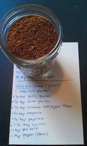 make your own taco seasoning