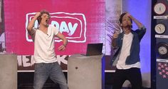 Niall and Louis dancing during 1D Day GIF
