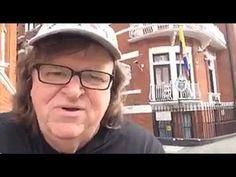 SR#1294 – Michael Moore Visits WikiLeaks' Julian Assange - Under Siege - Seeking Asylum - YouTube
