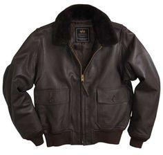 Alpha Mens G1 Brown Leather Jacket - Wholesale