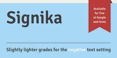 Signika by Anna Giedryś, via Behance #freebie