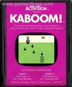 Kaboom Atari Game Cartridge Images | Cartridge artwork for Kaboom! on the Atari 2600. #atari #gaming #retrogaming