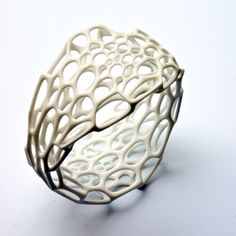 This company uses algorithms to generate patterns that imitate natural patterns, like the way algae grows or the stripes on a zebras, and they use them to create jewelry and housewares. Everything on their website is amazing: n-e-r-v-o-u-s.com